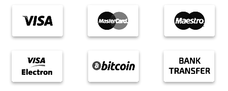 accepted payment, credit card, visa, master card, visa electron, BITCOIN, bank transfer